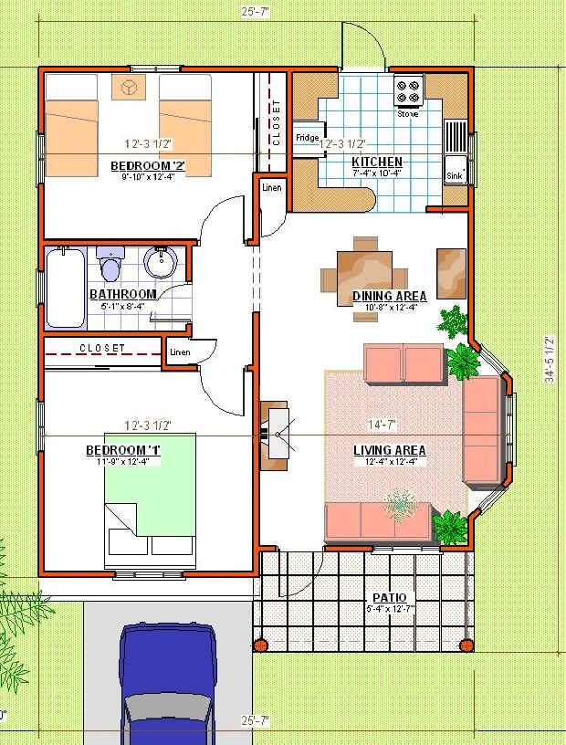 How much to build a two bedroom house in jamaica for Jamaica house plans